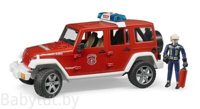 Джип пожарный Bruder 02528 Wrangler Unlimited Rubicon + фигурка пожарника