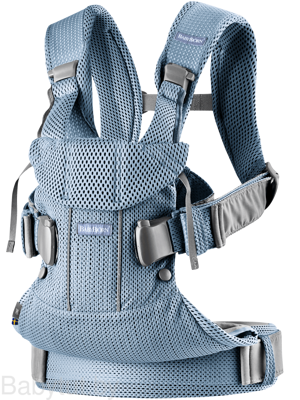 Рюкзак-кенгуру BabyBjorn One Air Mesh Серо-голубой